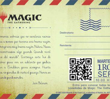 Jace Beleren, uno de los Planeswalkers más icónicos del mundo de Magic, te invita al anuncia de El Resurgir de Zendikar el nuevo set de Magic