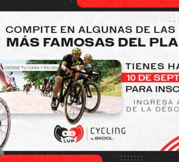 La LVP, Liga de Videojuegos Profesional Colombia, en asociación con Bkool, anunciaron el lanzamiento de la competencia virtual LVP Cycling by Bkool