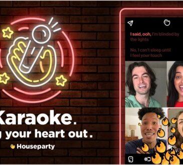 Karaoke llega a Houseparty, y de este modo todos los usuarios podrán experimentar de una forma sencilla y divertida el Karaoke con amigos sin salir de casa