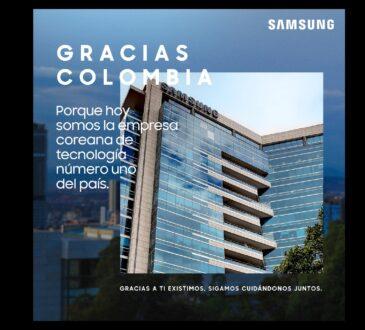 Samsung cumple 23 de años de estar en el país y quiere agradecerles a los colombianos por hacer sentir a la compañía en casa