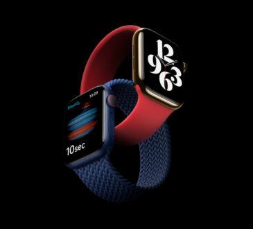 Apple anunció hoy el Apple Watch Series 6, que presenta una función revolucionaria de medición de oxígeno en la sangre para los usuarios