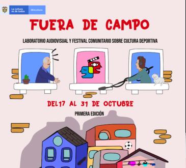 """El Festival Audiovisual """"Fuera de Campo"""" se llevará a cabo del 17 de agosto al 31 de octubre de manera virtual. Para jóvenes amantes del deporte"""