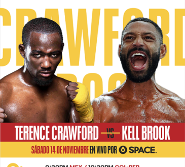 Terence Crawford vs. Kell Brook por Combate SPACE