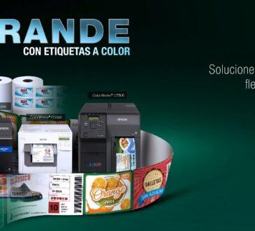Epson realiza la Feria virtual de Conocimiento en impresión de etiquetas a color Epson. Se trata de una nueva edición de la feria Piensa en Grande.