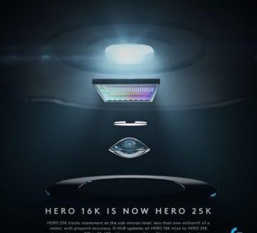 El nuevo sensor HERO (High Efficiency Rated Optical),de Logitech, es el primero de nivel submicrónico en el mundo,para rastrear con precisión movimientos.