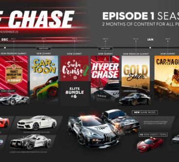 Ubisoft anuncia que el primer episodio de la primera temporada de The Crew 2: The Chase, la más reciente actualización del juego de deportes de motor.