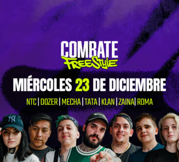 """La sexta fecha de Combate Freestyle que lleva al freestyle del """"barrio al SPACE"""" volverá a desarrollarse en la Argentina con los mejores exponentes"""