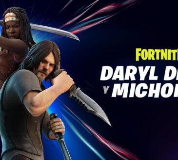 Los caminantes y Cazadores tienen algo que temer. ¡Daryl Dixon y Michonne son los nuevos Cazadores que llegan a Fortnite!