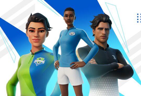 """A partir del 23 de enero, en Fortnite celebrarán el fútbol. Los jugadores podrán encontrar atuendos de su equipo global favorito con el """"Conjunto Remate"""""""