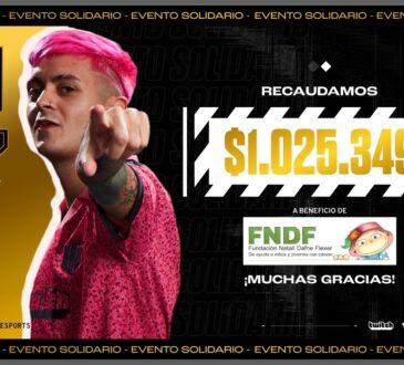 En el primer evento del 2021, KRÜ Esports y Twitch lograron su objetivo: recaudar más de 1.000.000 de pesos para donar a la Fundación Natalí Dafne Flexer