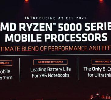 """AMD anunció el portafolio completo de Procesadores Móviles AMD Ryzen Serie 5000, trayendo la arquitectura central """"Zen 3"""", altamente eficiente"""