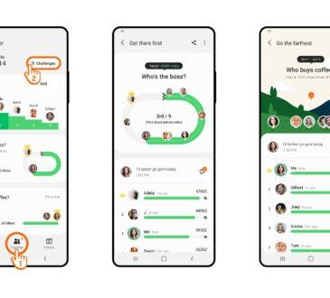 Samsung Electronics anunció una nueva función de Desafío Grupal en la aplicación Samsung Health para que ahora pueda desafiar hasta 9 personas.