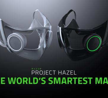 Razer ha anunciado el diseño conceptual para CES 2021; el Project Hazel, la máscara facial más inteligente y socialmente amigable del mundo.