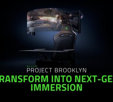 el diseño del concepto de silla de juego del Project Brooklyn se transforma de una silla gamer ergonómica a un centro de entretenimiento completo.