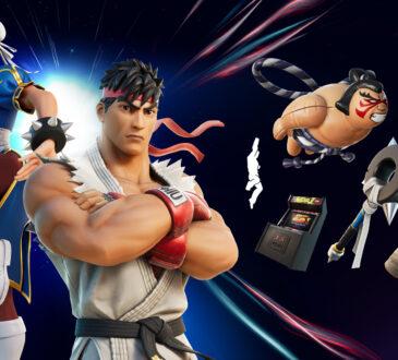 A partir del día de hoy, dos de los más grandes luchadores de Capcom, Ryu y Chun-Li, se unen a Fortnite y se podrán encontrar en la tienda