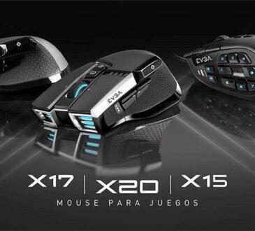 EVGA anunció sus nuevos mouse X15, X17 y X20 con tasas de sondeo de hasta 8KHz, permitiendo obtener 8 veces más lecturas por segundo