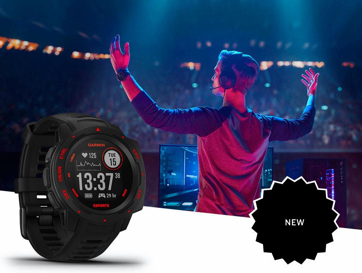 Garmin presenta Instinct Edición Esports, un reloj inteligente GPS resistente diseñado exclusivamente para que los entusiastas de los esports