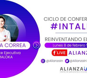 La primera edición de #InTalks se realizará el próximo 08 de febrero a las 5:00 p.m. (COL), estará a cargo de Adriana Correa