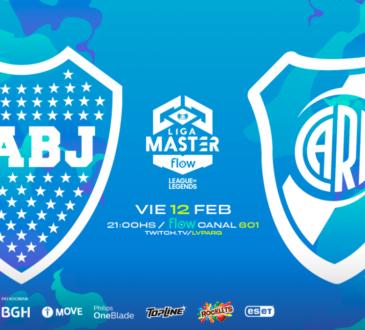 Los dos grandes del fútbol argentino, Boca Juniors y River Plate, se enfrentarán hoy en la Liga Master Flow de League of Legends que organiza LVP.