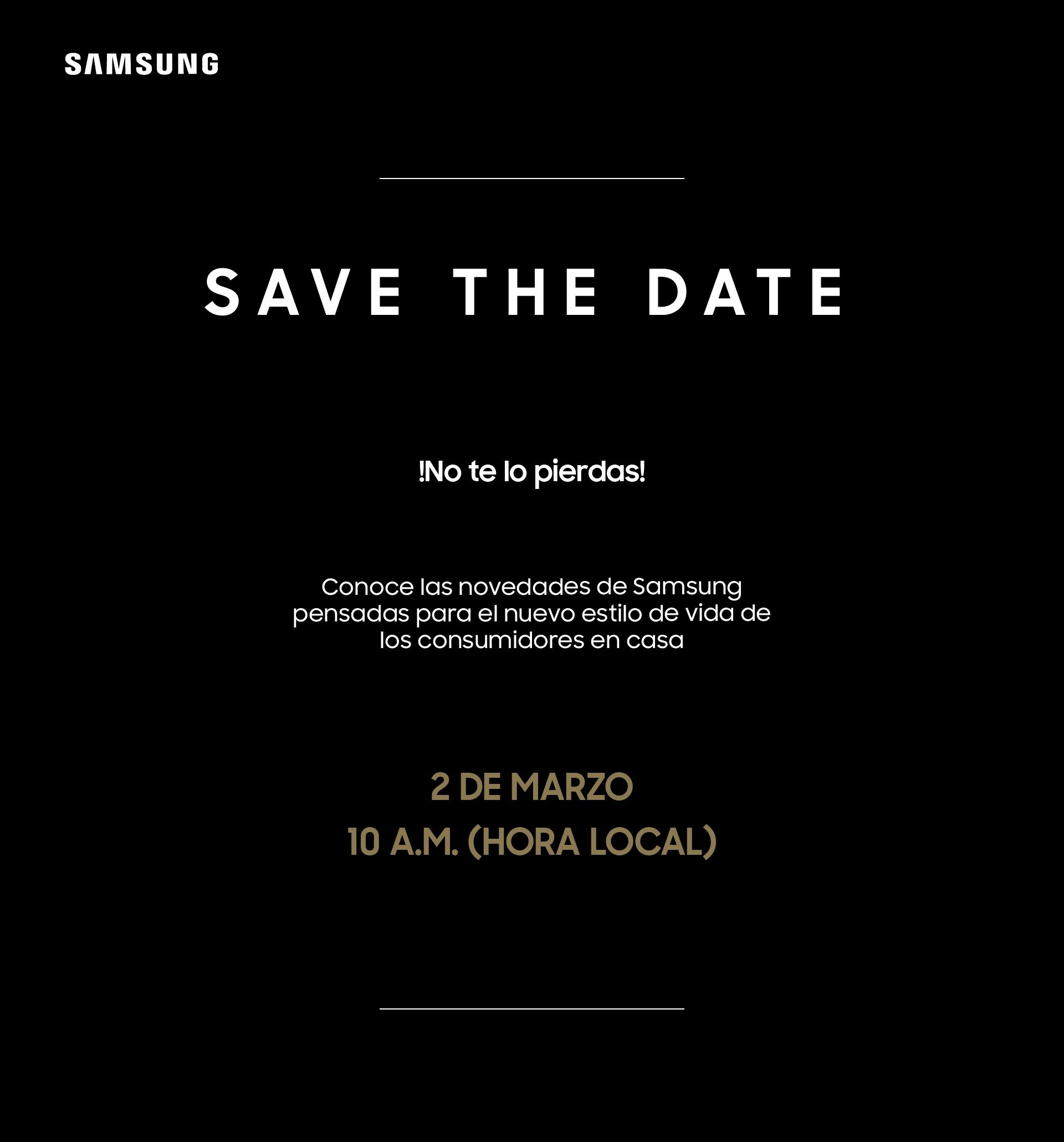 El próximo 2 de marzo, Samsung Electronics desarrollará el evento Life Unboxed, para compartirsu visión de cómo sus nuevos productos