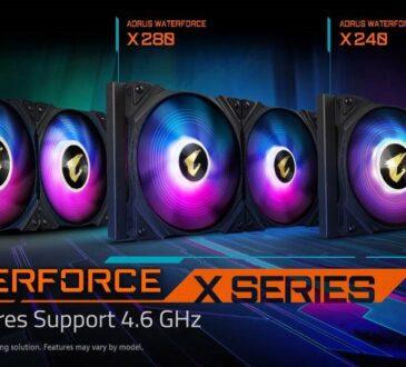 GIGABYTE ha anunciado el la nueva serie de refrigeraciones líquidas AIO AORUS WATERFORCE X SERIES. Ofrece 3 tamaños de radiador