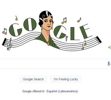 El Doodle de hoy, 11 de febrero, celebra a la cantante y compositora mexicana María Grever, considerada una de las más grandes compositoras mexicanas.