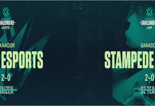 Stampede Gaming (Sur) y Akave Esports (Norte) resultaron ganadores del VALORANT Challengers del Stage 1 el pasado domingo.